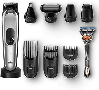 Braun 10-in-1 All-in-one trimmer MGK7920, Beard Trimmer & Hair Clipper, Black/Silver