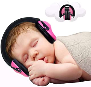 Baby Ear Protection - Noise Canceling Muffs for Babies Infant Tots Toddler Child - Kids Hearing Protection Earmuffs - Sound Proof Noise Canceling Headphones - Ages Newborn to 3 Years - Pink