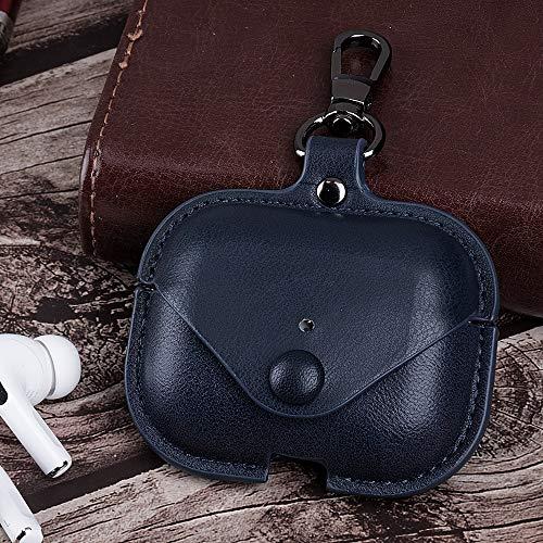 Hoesje Voor Air Pods Pro Airpods Pro Lederen Hoesje Oortelefoon Opladen Doos Case Voor Airpods Air Pods Pro TWS Bluetooth Oortelefoon Case QWERTB (Kleur : Blauw)
