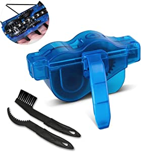 otumixx Bike Chain Cleaner  Bicycle Chain Cleaner Tool Easy and Quick Clean Chains Scrubber Gear Brush Maintenance Chain Cleaner Set for All Types Bicycle Cycling Mountain Bike Chains