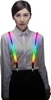 Light Up LED Suspenders Adjustable One-size for Party Concert Costume Men&Women