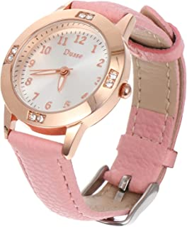 Balacoo Women Quartz Watch Crystal Wristwatch Mesh Interchangeable Leather Strap Watch For Nurses Teachers Seniors Girlfri...