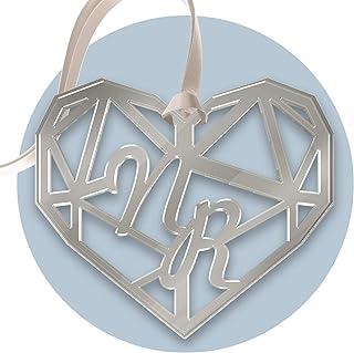 FAMA 5 Cartellini tag in plexiglass argento per bomboniere matrimonio personalizzabili con incisione al laser