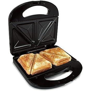 Sandwichera Electrica Grill para 2 Sandwiches We Houseware BN3396 Antiadherente 750 W - Negro