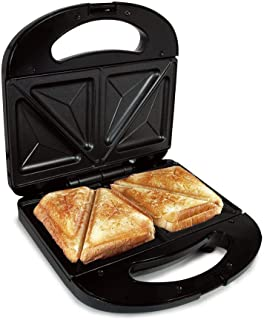 comprar comparacion Sandwichera Electrica Grill para 2 Sandwiches We Houseware BN3396 Antiadherente 750 W - Negro