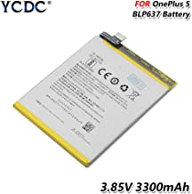 YCDC Original BLP637 Battery for OnePlus Five One Plus 5 5T 3300mAh High Capacity,3.85V 3300mAh 1+ Phone Battery BLP637 for OnePlus Five 5 5T High Performance