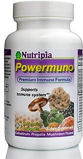 Powermuno Premium Immune Booster, Support 150 Vegi Caps - Elderberry, Propolis, Beta Glucan, Colostrum, Astragalus, Reishi...