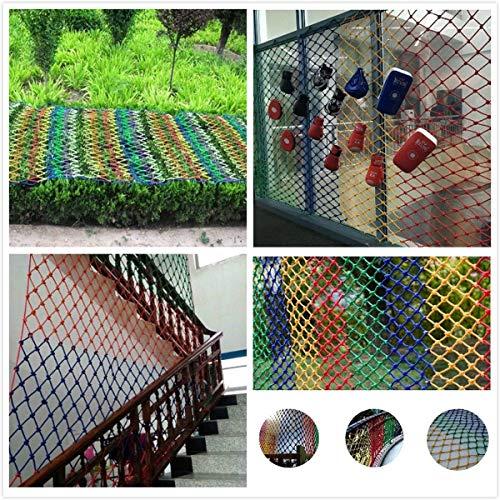 Veiligheidsnet van nylon, kleurrijk, veiligheidsnet voor kinderen, veiligheidsnet, kleurrijk, kattennet voor balkon, val, net, ramen, trappen, decoratie, party, tuin, schommel hangmat 3*8M Kleurrijk