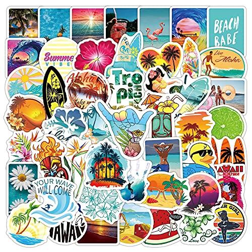 YZFCL Etiquetas engomadas al aire libre del verano de la playa de Hawaii Surfing del monopatín del coche del ordenador portátil de la bici del teléfono de la guitarra graffiti