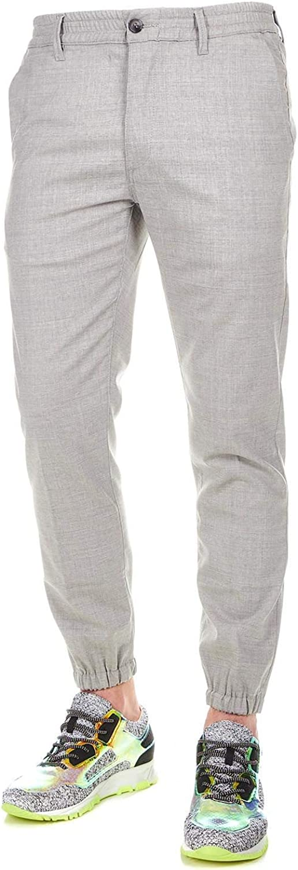 GENDER Men's DANIEL429LIGHTGREY Grey Wool Pants