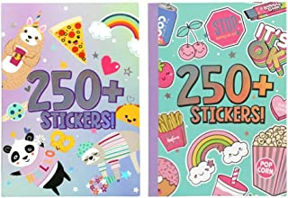 Super Cute Sticker Books 2pk-Over 250+ Stickers in Each Book!