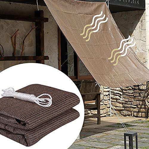 LKP Toldo Vela De Sombra 2x4m para Terraza Malla Sombreadora Lona Protección Solar Toldos De Transpirable para Patio Jardín Exterior - Marrón