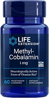 Life Extension Methylcobalamin, 1 Mg Lozenges, 60-Count