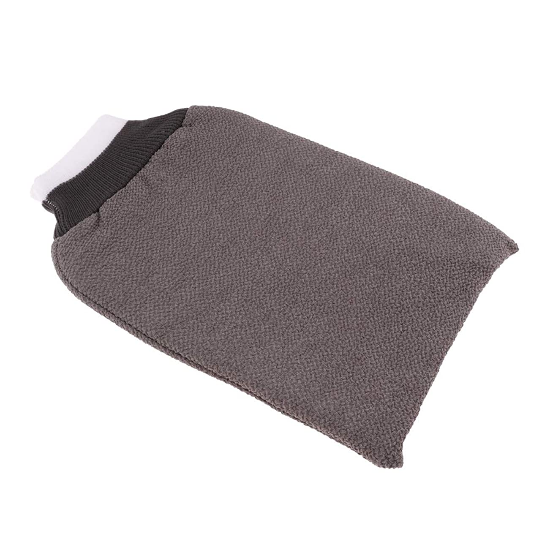 拡張召喚するヒョウdailymall お風呂手袋 シャワーグローブ 垢すり手袋 毛穴清潔 角質除去 泡立ち バスグローブ 浴用手袋 全3色 - グレー