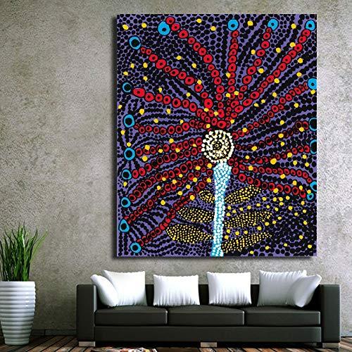 hetingyue Das Wandbild der farbenfrohen abstrakten Malerei des Malers des Malers ist auf dem Wandbild der Heimdekoration gedruckt. Rahmenloses Gemälde 30X35CM