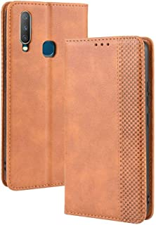 Case for VIVO Y15,Leather Stand Wallet Flip Case Cover for VIVO Y15,Retro magnetic Phone shell,Wallet phone case with Card Slots