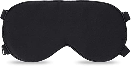 Eye Mask, Gyvazla Ultra Soft Skin-Friendly Pure Natural Silk Fabric and Natural Cotton Filled Sleeping Eye Mask with Adjustable Strap for Men, Women and Kids