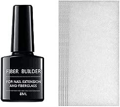 Fan-Ling Fiberglass Manicure Extension Paper + Extension Gel Set,Nail Care Fiberglass Silk Nails Wrap Stickers for Gel Extension Nail Art Tools (D:20 x Extension Stick + 1 x Gel)