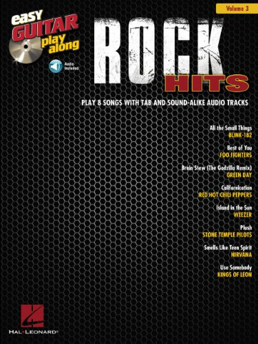 Rock Hits Songbook: Easy Guitar Play-Along Volume 3 (English Edition)