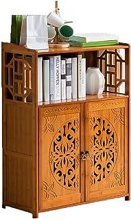 Strong Sturdy Vintage Bookshelf Solid wood,Bamboo Simple Open shelf Floor-standing Multifunctional Storage rack For kids F...