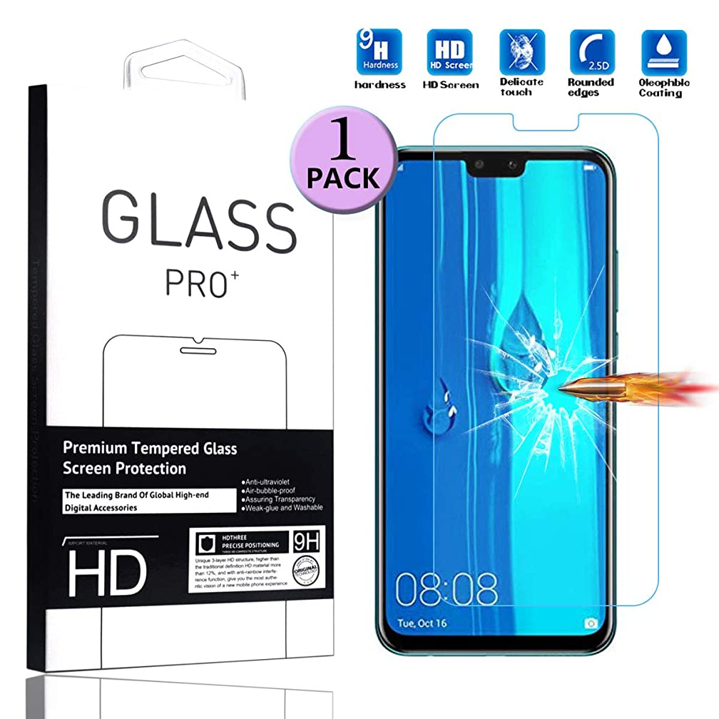 Amaxy Compatible with Huawei Y9 2019 Tempered Glass Screen Protector - [1 Pack] Smartphone Protective Film for Huawei Y9 2019 (6.5