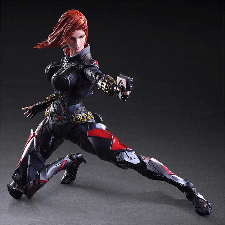 conveniente RLJqwad Modelo de Anime Marvel Juguetes Modelo de Viuda Viuda Viuda Negra Modelo de Avengers Modelo de Juguete de súperhéroe Modelo de 27 cm negro Widow  ahorra hasta un 80%