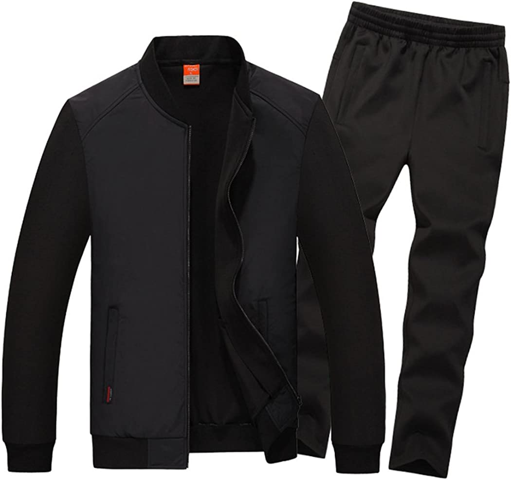 Real Spark Men's Athletic Full Runnning Tracksuit shop Albuquerque Mall Casual Zip Set
