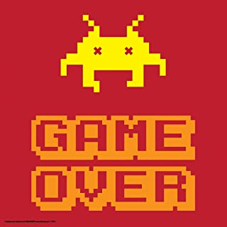Culturenik Game Over Classic Video Game Humor Novelty College Lifestyle Decorative Art Print (Unframed 12x12 Poster)