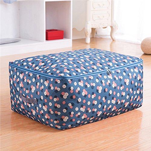 MZP Oxford Épaississement buanderie pochette de rangement de couette en coton en tissu tri roi dans des sacs en vêtements boîtes de rangement , rose red , m 55*35*20cm
