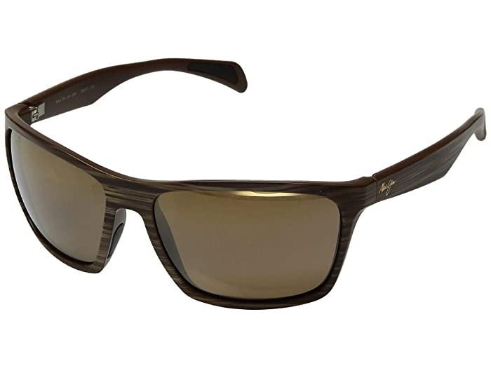 Maui Jim  Makoa (Matte Brown Woodgrain/HCL Bronze) Fashion Sunglasses