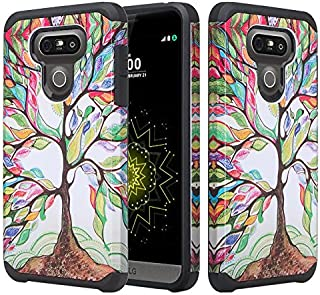 LG G6 Case, LG G6 [Shock Proof/Drop Protection] Hybrid Dual Layer Defender Protective Case Cover for LG G6 - Colorful Tree