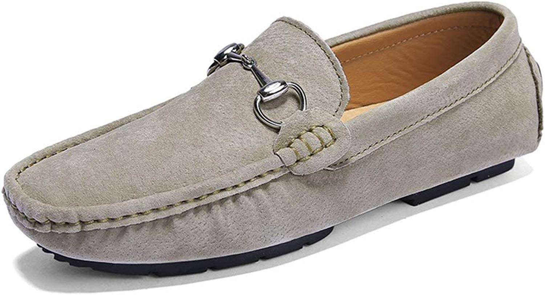 EGS-schuhe Faul Stiefelschuhe Herrenmode Echtes Leder Wildleder Erbsen Erbsen Schuhe,Grille Schuhe (Farbe   Khkai, Größe   38 EU)  Spielraum