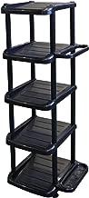 和泉化成 组装式鞋架5段 单人 黑色 シングル 3101BK