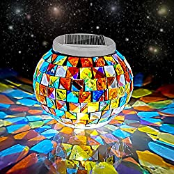 Color Changing Solar Powered Glass Ball