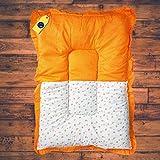Aayat Kids ® Baby Mattress Cotton Printed Baby Other Toddler Bedding Mattress/BabyBeddingMat/Bedding/SleepingMat/BabyBed(L-33 Inch, W-19 Inch)(Upto 12 Months,Orange)