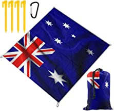 Rachel Dora Flag of Australia Picnic Blanket Foldable Waterproof Set with Drawstring Bags Custom Portable Mat for Outdoor Camping Hiking Travelling Festival Beach BBQ 67 x 57 inch