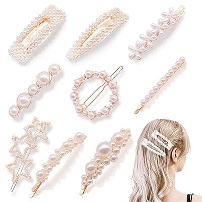 BigOtters Pearls Hair Clips, 9pcs Hairpins Head...