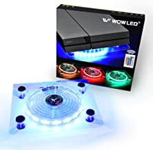 WF USB RGB LED Cooler Cooling Fan Stand, Wireless Remote Controller, Multi-Color LED..