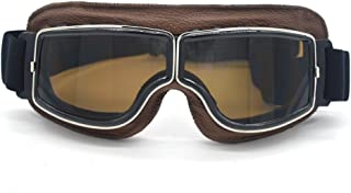evomosa Motorcycle Riding Goggles Vintage Glasses Anti-Scratch Scooter Ski Eyewear for Men Women Adult