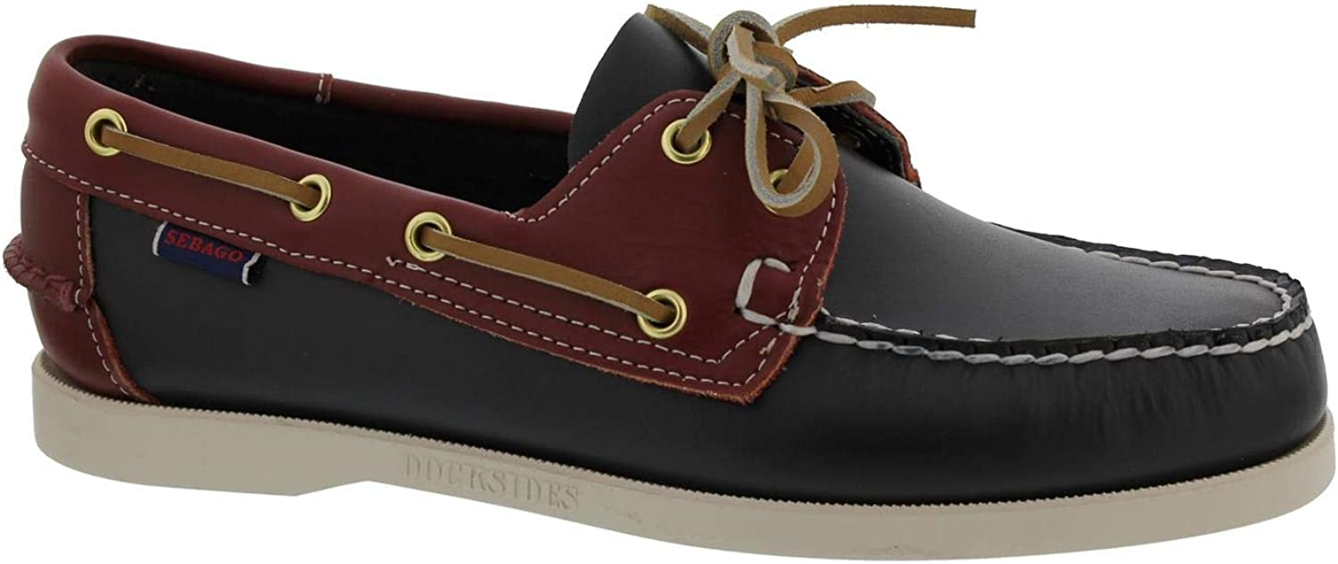 Sebago Spinnaker, Full-Grain Leather, Blau Navy Dark rot, Men 70001B0-994 70001B0-994  einzigartiges Design