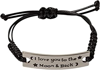 Engraved Inspirational Bracelets She Believed she Could so she did Adjustable Leather Cord