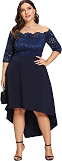 Best navy blue party dress plus size Reviews
