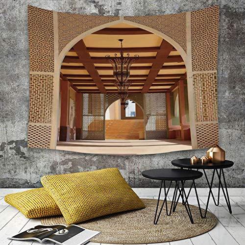 Yaoni Wandtapijt wanddecoratie, Arabisch, Traditionele Arabische architectuur in Doha Qatar Midden-Oosten Oosterse…