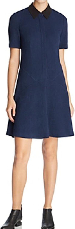 Finity Womens Contrast Collar ALine Dress