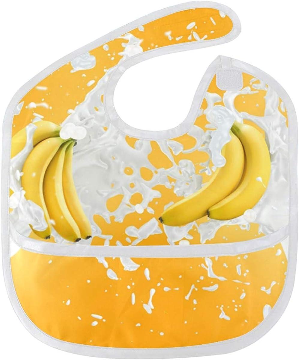Banana Milk Super sale Baby Bibs Waterproof Odor Resis Washable Max 66% OFF and Stain