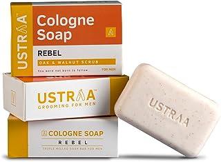 Ustraa Rebel Cologne Soap with Oak & Walnut, 125 gm (Pack of 3)