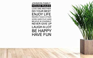 Vinly Art Decal Words Quotes Johnson Family for Living Room Nursery Kids Room Play Room Game Room Baby Room Couple Room