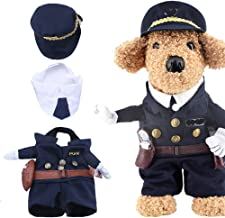 Yarssir Pet Policeman Costumes Cop Clothes Cosplay Dog and Cat Christmas New Year Brithday Party Suits
