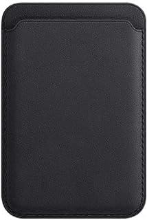 GUOSHUFANG Magsafe - Porta carte di credito in vera pelle, con blocco RFID, per iPhone 12 Pro, colore: Nero