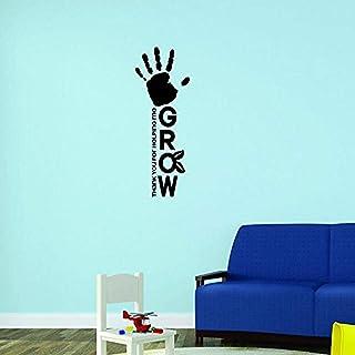 Design with Vinyl Moti 1951 2 Hand Thank You For Helping Me Grow Daycare Preschool School Kid Peel & Stick Wall Sticker De...